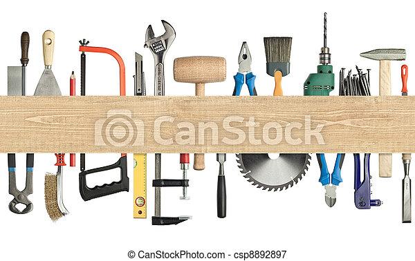 Carpentry background - csp8892897
