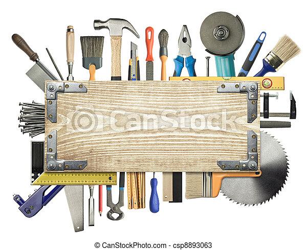 Carpentry background - csp8893063