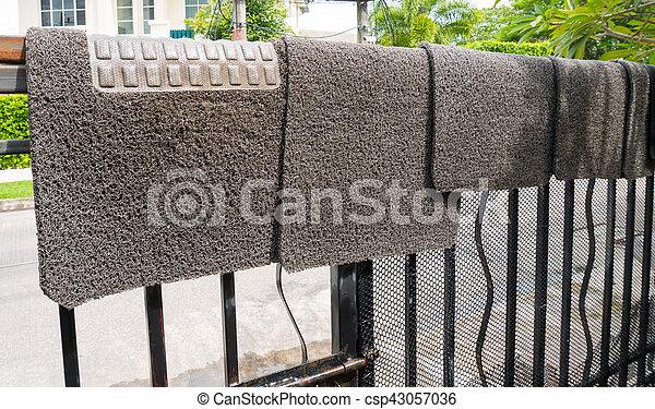 carpet car drying with sunlight - csp43057036