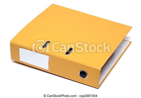 Una carpeta amarilla - csp3481934