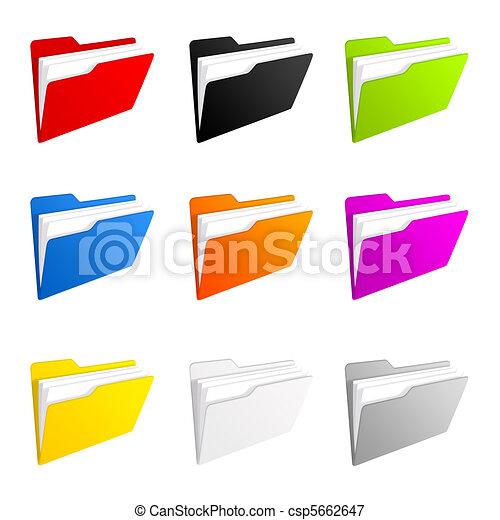 iconos del follaje - csp5662647