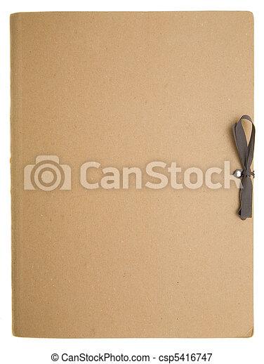 La carpeta de papel - csp5416747