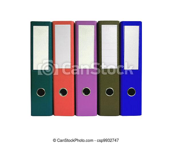 Pliegues de oficinas aislados en blanco - csp9932747