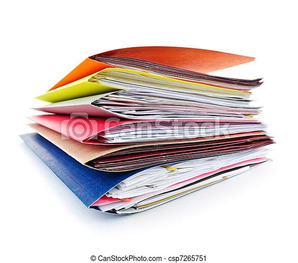 Folders con documentos - csp7265751