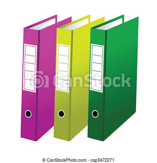 Tres carpetas de oficina - csp3472271