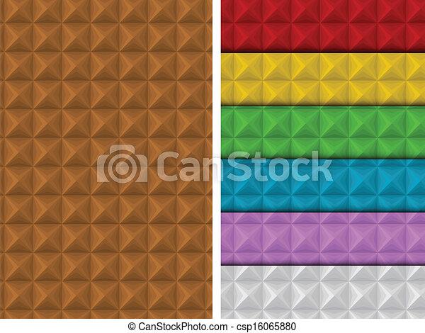 carrée, coloré, modèle, seamless, ensemble, géométrique - csp16065880