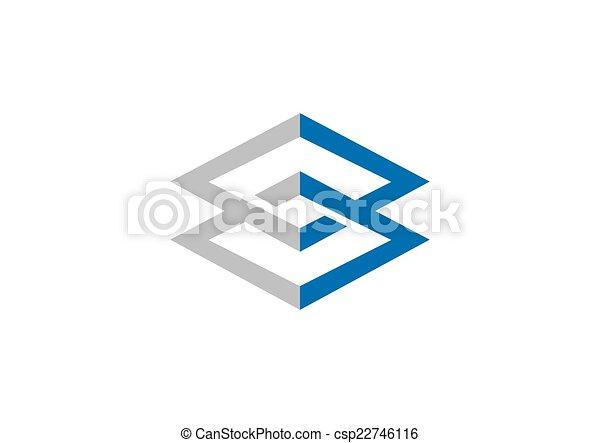 carrée, géométrie, connexion, vecteur, logo, construction - csp22746116