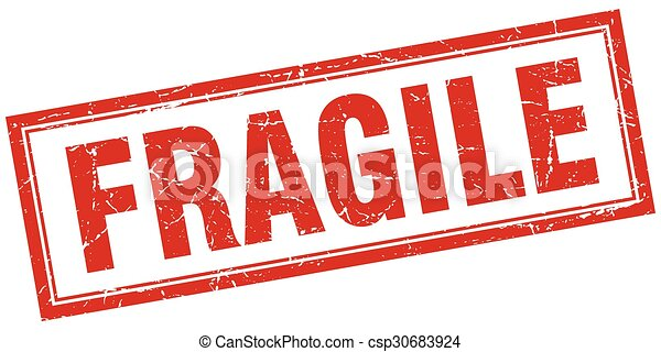 carrée, grunge, timbre, fragile, blanc rouge - csp30683924