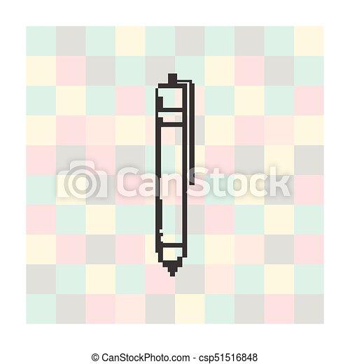Carrée Stylo Vecteur Fond Pixel Icône