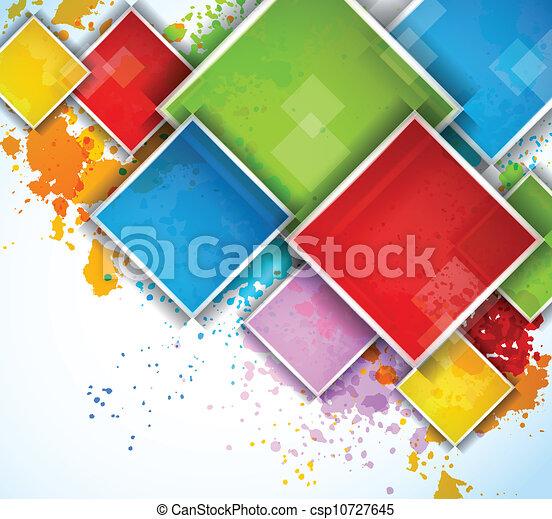 carrés, coloré - csp10727645
