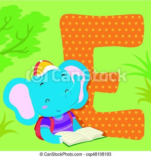 Carreau Alphabet éléphant
