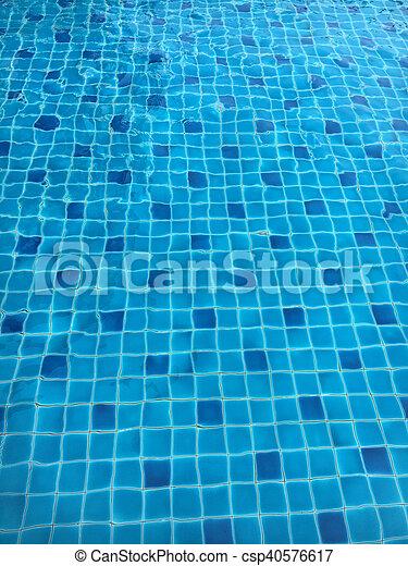 Carreau, carrée, mosaïque, piscine, natation. Bleu, turquoise ...