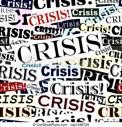 carreau, gros titres, crise - csp1346724