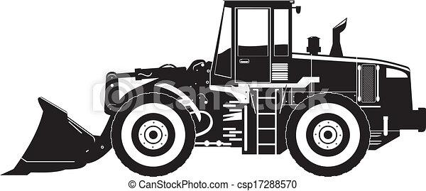 carregador, equipamento pesado - csp17288570