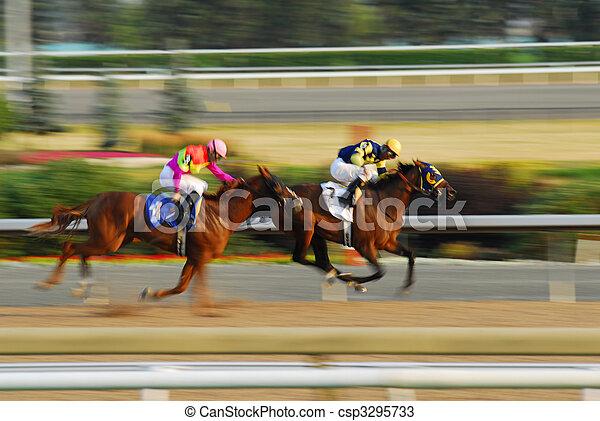 carrera de caballos - csp3295733