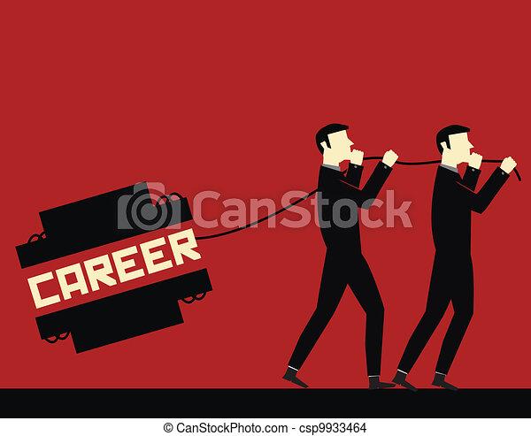 Carrera de hombre de negocios - csp9933464