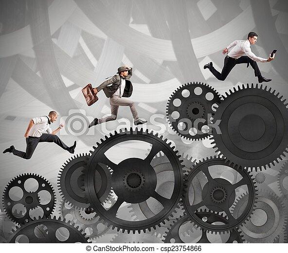carrera, personas empresa, difícil - csp23754866