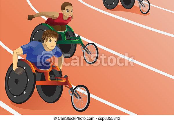 Carrera de sillas de ruedas - csp8355342
