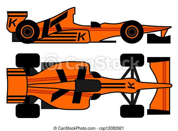 Un auto de carreras - csp12082921