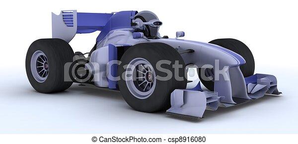 Robot con un auto de carreras - csp8916080