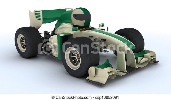 Tortoise con auto de carreras - csp10852091