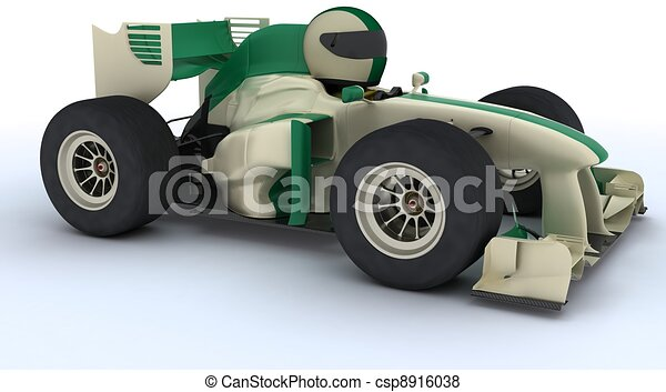 Tortoise con auto de carreras - csp8916038