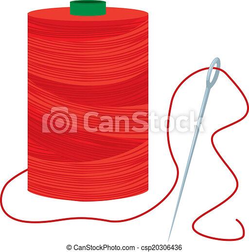 Hilo rojo con aguja - csp20306436