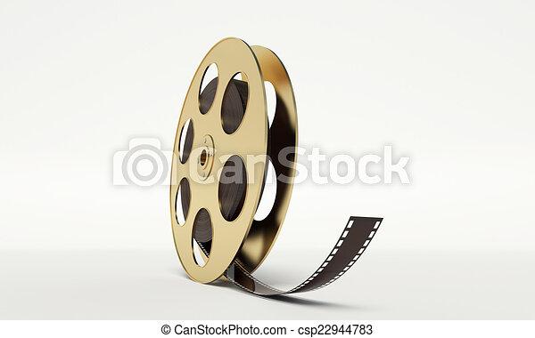 Un rollo de película con una tira - csp22944783