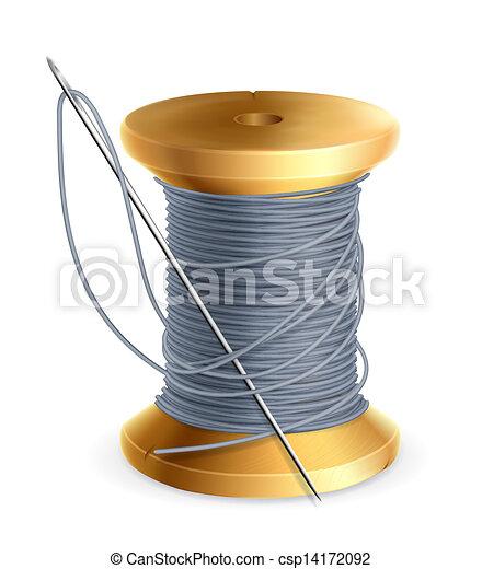 Una bobina de hilo, vector - csp14172092