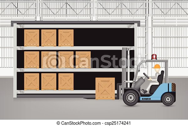 Una caja elevadora - csp25174241