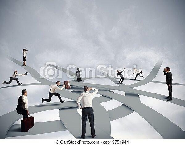 carrière, confusion, business - csp13751944