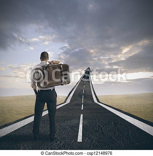 carrière, homme affaires, reussite - csp12148976