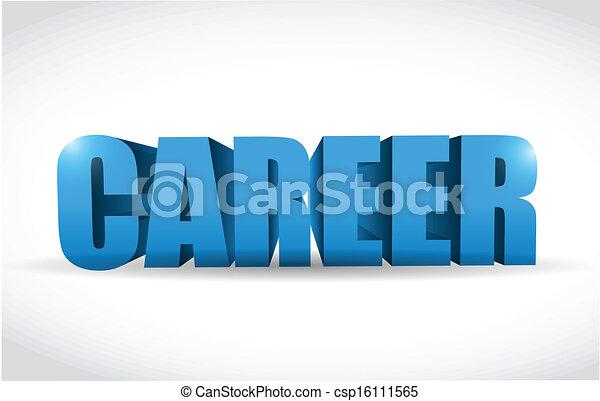 carrière, texte, conception, illustration, 3d - csp16111565