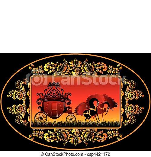 carriage., fée-conte - csp4421172