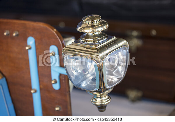 Carriage Lamp from a 1904 vintage car - csp43352410