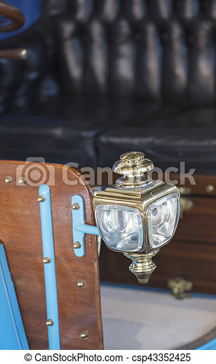 Carriage Lamp from a 1904 vintage car - csp43352425
