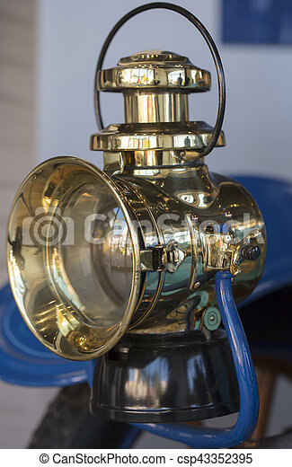 Carriage Lamp from a 1904 vintage car - csp43352395