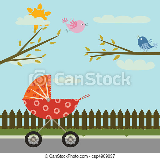 carrinho criança - csp4909037