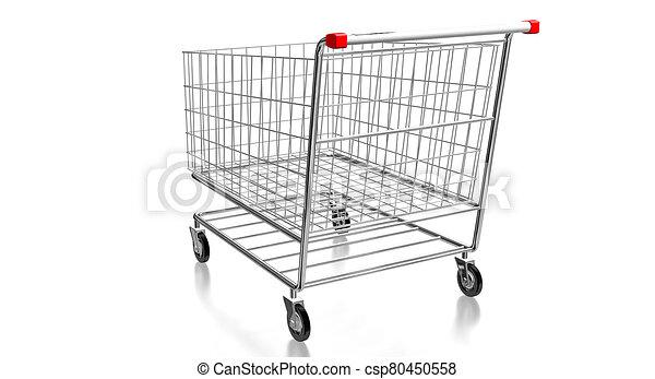 carrito, 3d, -, compras, ilustración - csp80450558