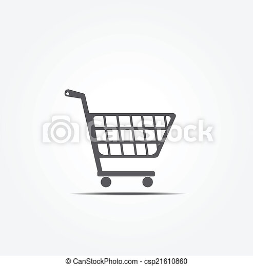Comprando icono vector de carro - csp21610860