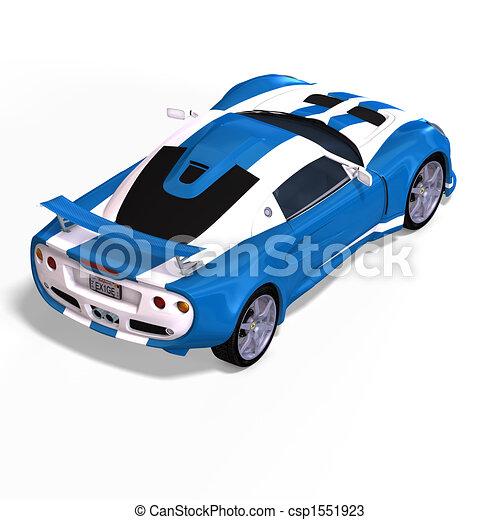 carro azul, branca, correndo, fantasia - csp1551923