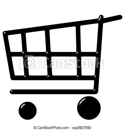 Un carrito de 3D - csp3927592
