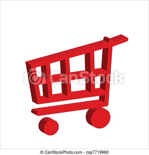 3d carrito de compras - csp7719960