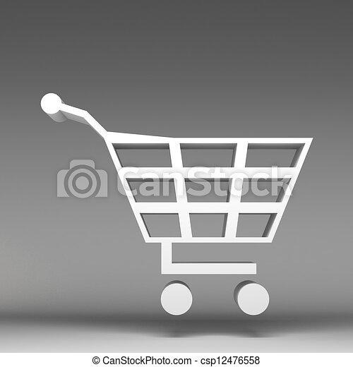 3d carrito de compras - csp12476558