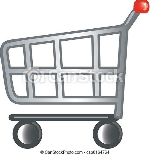 carro de compras, icono - csp0164764