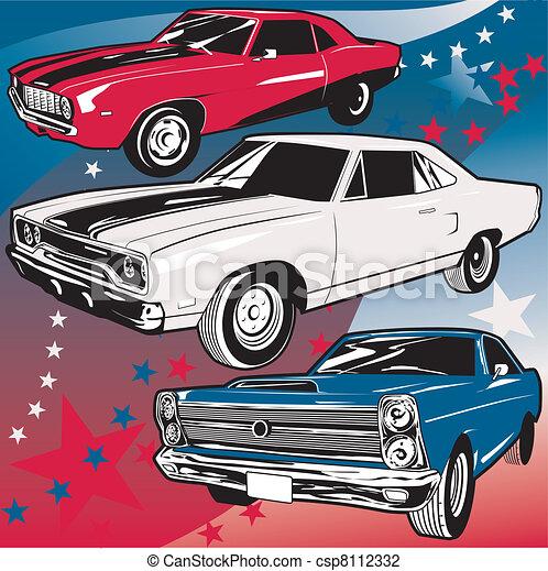 carros, americano, músculo - csp8112332