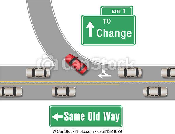 carros, antigas, mudança, maneira, novo - csp21324629