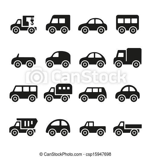 carros, jogo, ícone - csp15947698
