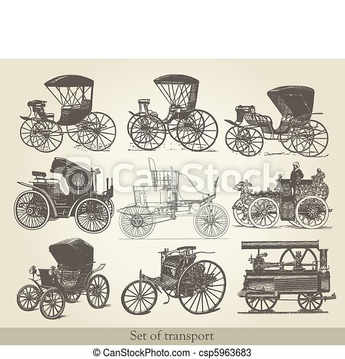 carros, jogo, antigas - csp5963683