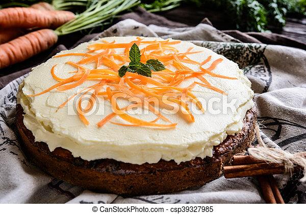 Carrot cake with mascarpone - csp39327985